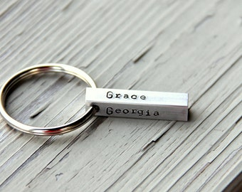 New Dad Gifts From Wife -  Personalized Name Keychain For Dad - Personalized Key Chain For Dad - Gift For Uncle To Be - Gift For Dad
