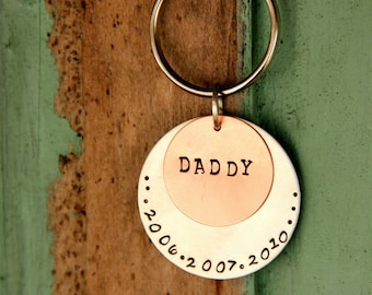Personalized Men's Valentine Gift- Men- Dad Keychain - For Daddy- uncle- Anniversary Gift - Man Gift - Dad- Valentines Git For Dad- Keychain