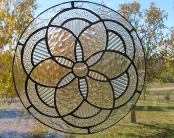 Clear Mandala Suncatcher