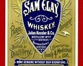 Antique Ornate Original Medicinal WHISKEY Bourbon Paris KY Kentucky Distillery Pharmacy Bar Bottle Label Speakeasy Brewery