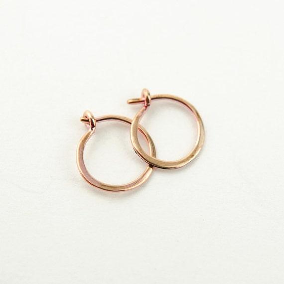 Popolare Piccoli orecchini di cerchio orecchini clasico minimalista XW48