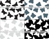 BUTTERFLY CONFETTI (100 pc) -- Black, Slate Gray, Light Gray/Silver, White