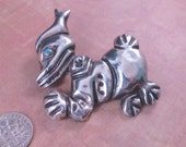 Vintage Classic Donald Duck Brooch Silver Mexico