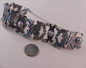 Vintage Taxco Sterling Large Heavy Bracelet