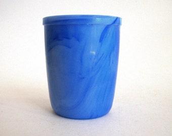 Vintage Slag Glass / Blue / Cup