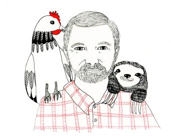 Custom Illustrated Profile Portraits