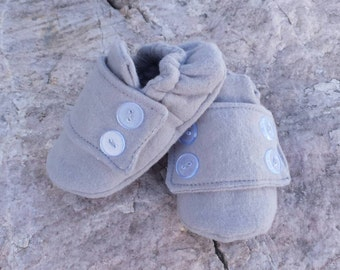 Grey Baby Boy Church Shoes/ Loafers