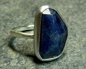 Rose cut Blue Sapphire Ring