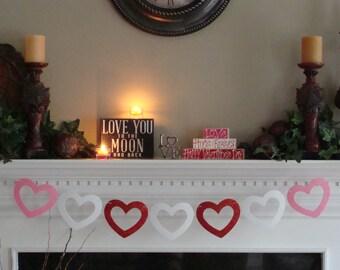HEART Shape Garland # 8 - Valentines Day