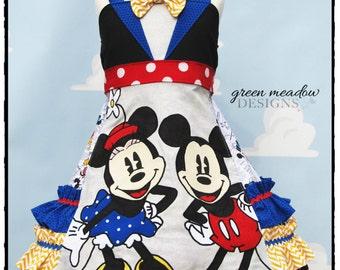 Vintage Mouse Hand Applique Dress