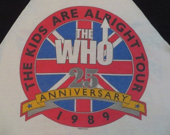 THE WHO 1989 tour TSHIRT