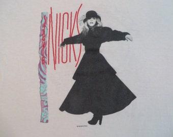 STEVIE NICKS 1986 tour SHIRT fleetwood mac