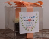 8 - Wedding Favor Cupcake Boxes - Ivy Label Design - wedding favors, wedding cupcake box, personalized cupcake box, burlap wedding favor