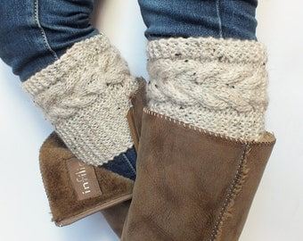 Plus Size Boot Cuffs Choose Color, Hand Knit Boot Toppers, Leg Warmers Wool Acrylic Blend Yarn For Women Or Teens