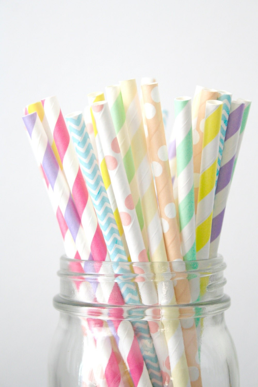 decorative straws for weddings paper straws pastel rainbow with neon pink wedding decor 3463