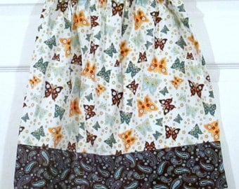 Girls Twirl skirt - Butterfly Garden Paisley - Sizes 2T and 8/10 Years