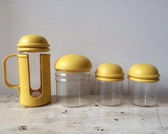 SALE 10% OFF    Vintage Pyrex Sugar/Creamer/Salt/Pepper Set of 4