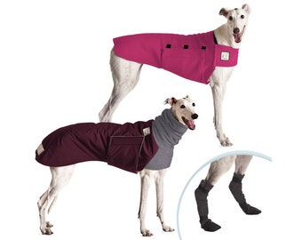 GREYHOUND Cold Climate Special, Dog Winter Coat, Dog Sweater, Dog Booties, Waterproof Dog Coat, Fleece Sweater, Dog Boots, Dog Clothes,