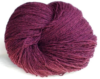 Cashmere Cotton Recycled Yarn, Burgundy, Lace Weight, 881 yards
