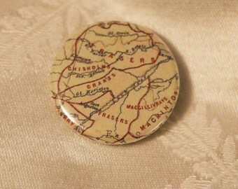Fraser Clan Map (Scotland) Pinback Button