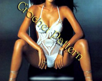 Crochet Monokini Pattern only with written instruction and charts for Advance Level skills in PDF files.