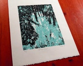 Light Comes Through - styrofoam relief print