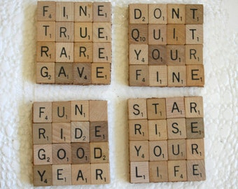 Scrabble Coasters-set of 4Inspirational