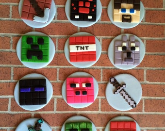 EDIBLE (Fondant Toppers) - Minecraft Inspired