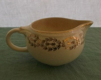 Vintage Creamer China Ivory with Gold Trim Floral