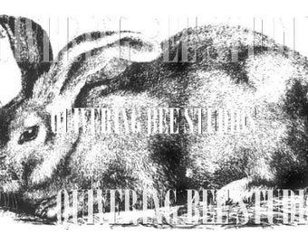 Rabbit Digital Download-fabric transfers pillows placemats aprons tea towels t-shirts scrapbooking animal clip art bunny rabbit art no 2222