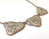Designer jewelry, Paper jewelry, Eco chic Wedding necklace, 1st anniversary gift idea for her