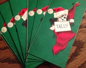 Vintage Christmas Doggie bridge tallies  1952 copyright