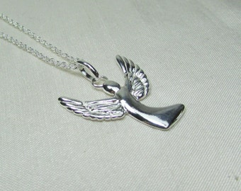 Angel Necklace Sterling Silver Angel Wing Necklace - Angel Jewelry - Memorial Necklace - Remembrance Necklace