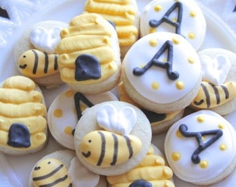 5 Dozen Honey Bee Themed Cookie Nibbles