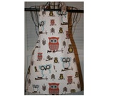 Childs  Apron Full Bib Hoot Owl