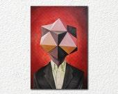 Geometric Man in Suit - W...