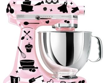 Baking mixer decal set - kitchen mixer decal - utensil decal - cupcake decal