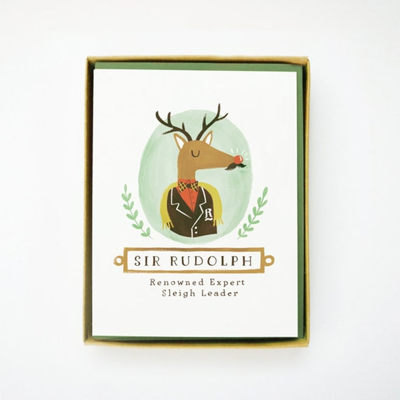 Sir Rudolph Christmas Card 10pcs