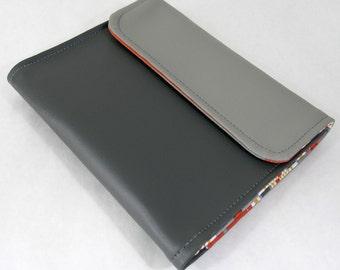 Vegan iPad Sleeve Tasca, Gray vinyl iPad case