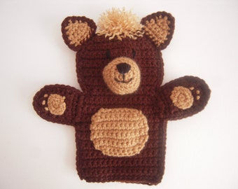 Crocheted Bear Hand Puppet