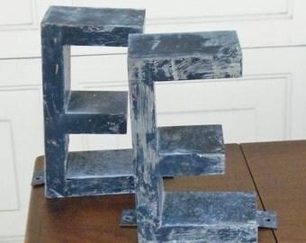 Vintage Metal Sign Letters E-N-L