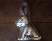 Vintage French Rabbit Bunny Cake Chocolate Jelly Blamange Mould Tin Patisserie Boulangerie circa 1960-70's / English Shop