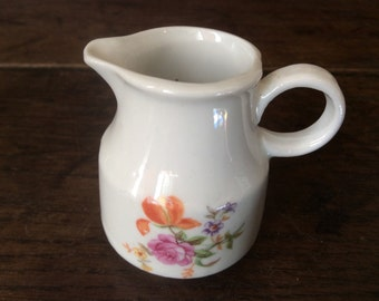 Vintage French Tiny Cream Milk Jug Pitcher circa 1970-80's / English Shop