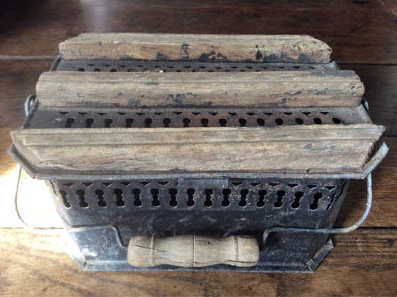 Cooking Warmers Vintage Fireplace ~ Antique french hot coal foot warmer stove fireplace by