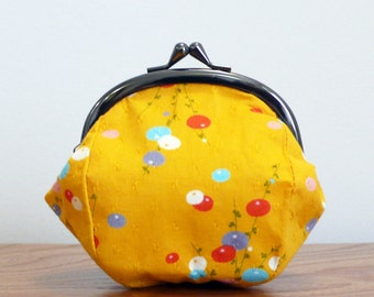 Small Kiss Lock Purse - Japanese Prints - Clasp Purse