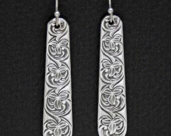 Spoon Earrings,  Vintage Swedish Spoon Earrings, Spoon Jewelry