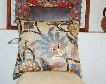 """Beautiful silk handmade samarkand   flowers pattern   embroidered Suzani Pillow Cover 18""""x 18""""5"""
