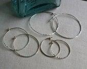 Traditional Sterling Silver Hoop Earrings Three Sizes, Minimalist Earrings,  Sterling Silver Earrings, Balsamroot Jewelry