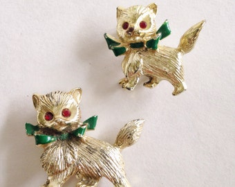 Vintage Holiday Cat Scatter Pins