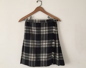 Henri Bendel Plaid Wool Wrap Skirt XS/S